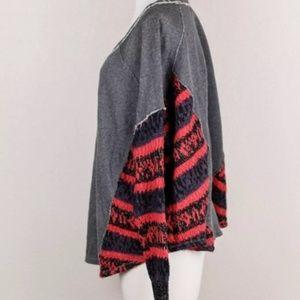 Free People Sweaters - Free People - Printed Sleeve Pullover